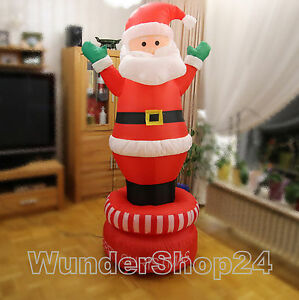 Grand-Gonflable-Dauerdrehen-Pere-Noel-180cm-Deco-Noel-Neuf