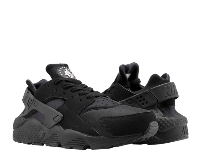 timeless design eeb65 90a7b Men s Nike Air Huarache Low Triple Black Running Shoes Size 11 US