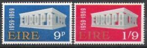 Irlande Nº 230/31 ** L'europe, Cept 1969, Cachet-afficher Le Titre D'origine