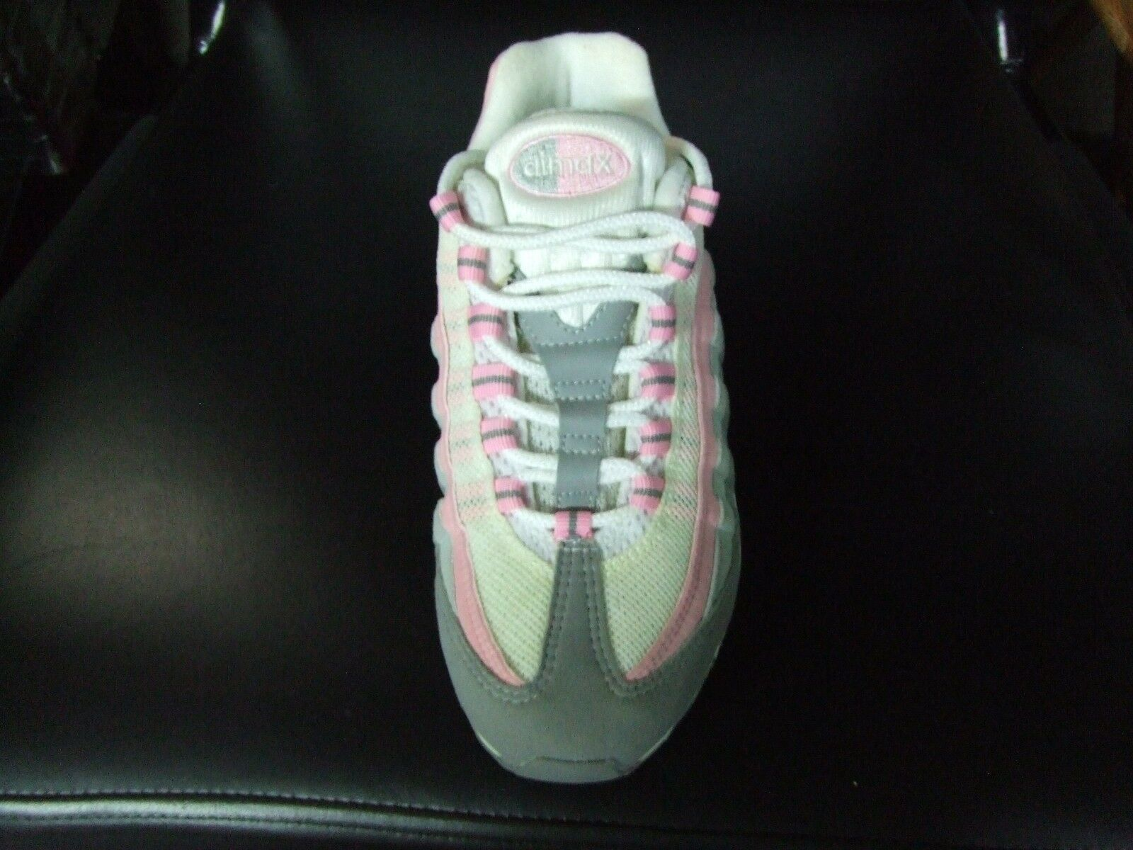 Nike Women's Air Max 95 Sizes 6.5 White Real Pink Pink Pink Medium Grey New 2005 e14e28