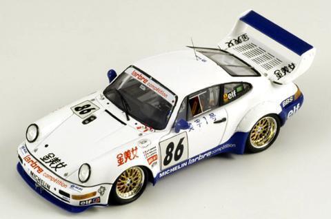 Spark 1 43 Porsche 911 Turbo S LM bloque Popular Revolucionario GT serie 1994 ganador de Japón