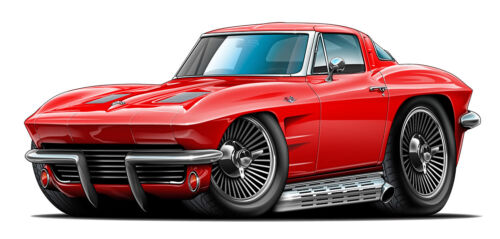 63 Corvette Split Window Coupe 4FT Long Wall Graphic Decal Sticker Man Garage