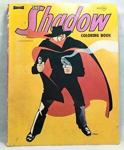 Vintage 1974 The Shadow Coloring Book - Comic Radio Show Hero