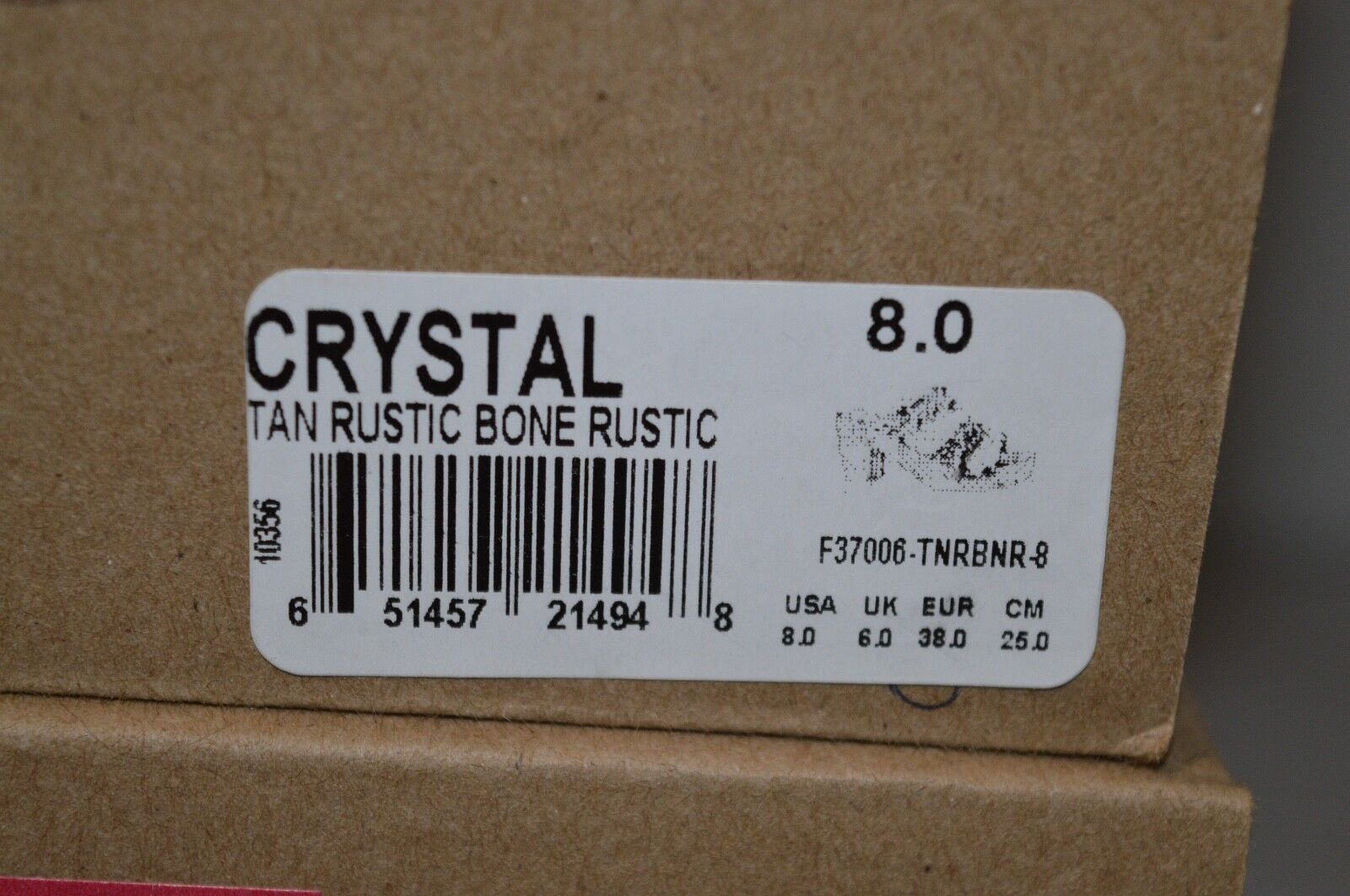 New    190 Bed Stu Crystal Tan Rustic Bone Rustic Sandal Wood Wedge Heel Leather 3331fe