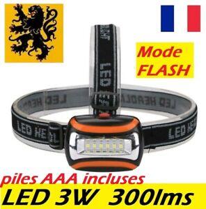 lampe-frontale-LED-3W-300lm-lampe-de-poche-camping-running-esthetique-maquette