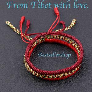 Tibetan-Handmade-Knots-Adjustable-Fortune-Buddha-Lucky-Bracelet-Buddhist-Rope
