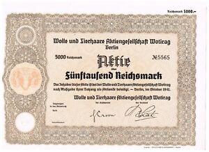 Wolle-und-Tierhaare-AG-Wotirag-Berlin-1941-5000-RM