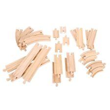 Rails pour agrandir vos circuits de train en bois 24 pcs, jeux & jouets en bois