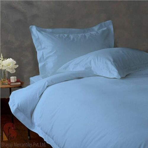 900 TC EGYPTIAN COTTON BEDDING SET 4 PCs FLAT SHEET+DUVET COVER S. BLUE COLOR