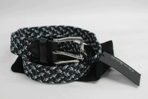 "OLIVER SWEENEY Mens Sarroch Black Elasticated Fabric Belt Size 37/"" Long NEW"
