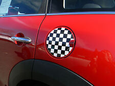 CHECKERED FLAG FUEL TANK DOOR COVER GRAPHIC DECAL FOR MINI COOPER HARDTOP NEW