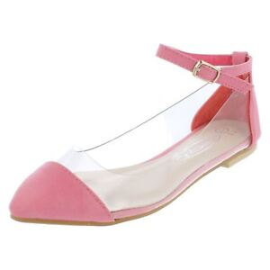 Spot-On-H2270-Filles-Rose-Transparent-Fermeture-Sangles-Chaussures-Decontractees