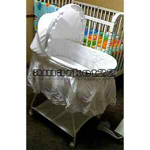 White Baby Moses Bassinet Sweet Beginnings Basket Comfortable Children's NEW
