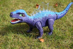 Animals & Dinosaurs Action Figures Imported From Abroad Walking Dorsal Spine Dragon Dinosaur Moving Walks B/0 Lights & Sound Figure