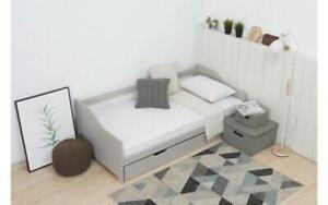 Dettagli su NUOVO Grigio Mobili per camera da letto in legno struttura  letto singolo con ospite tirare fuori estraibile- mostra il titolo originale