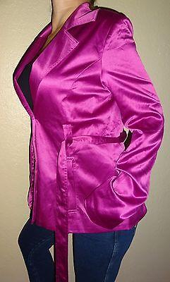 Calvin Klein professional career women's satin blazer shirt jacket coat | M