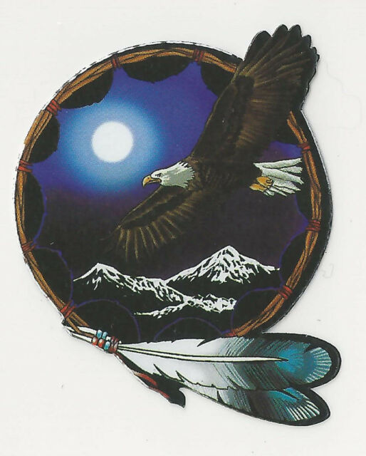 EAGLE MOON AND MOUNTAINS - STICKER