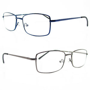 0bda9eb915b6 Image is loading High-Quality-Spring-Hinge-Metal-Reading-Glasses-Clear-