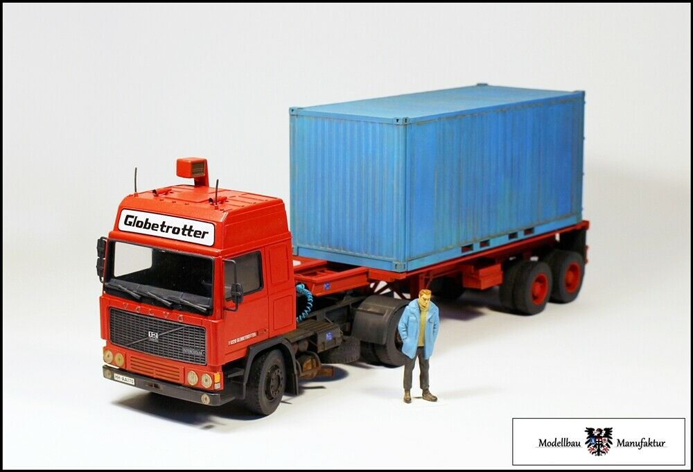 VOLVO f12 tuttieanza trasporto di container  Microssoraccia 1