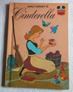 Walt-Disney-039-s-Cinderella-Hardcover-Book-Published-1974-Random-House-New-York