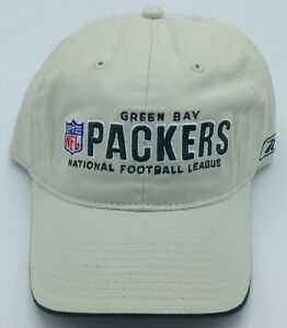 NFL Green Bay Packers Reebok Adult Slouch Adjustable Fit Curved Brim ... 277bffe2d
