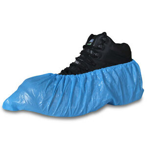 Extra Strong Blue Disposable Overshoes Covers Carpet Floor ...