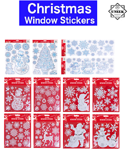 Fenetre-Stickers-Pere-Noel-amovible-Gel-Autocollant-mur-Home-Shop-DECOR-UK