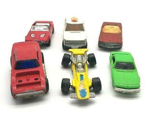 Lote-de-6-Autos-De-Juguete-Vintage-5-Matchbox-1-Tomika-Inglaterra-Japon-1970s