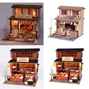 Baoblaze-1-24-DIY-Dollhouse-Wooden-Model-Kits-Grill-House-amp-Beancurd-Mill