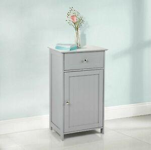 Grey Wooden 1 Drawer Door