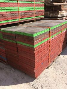 Details about Symons Concrete Wall Forms Steel Ply Panels (40pcs) 8 ft x 2  ft (USED)
