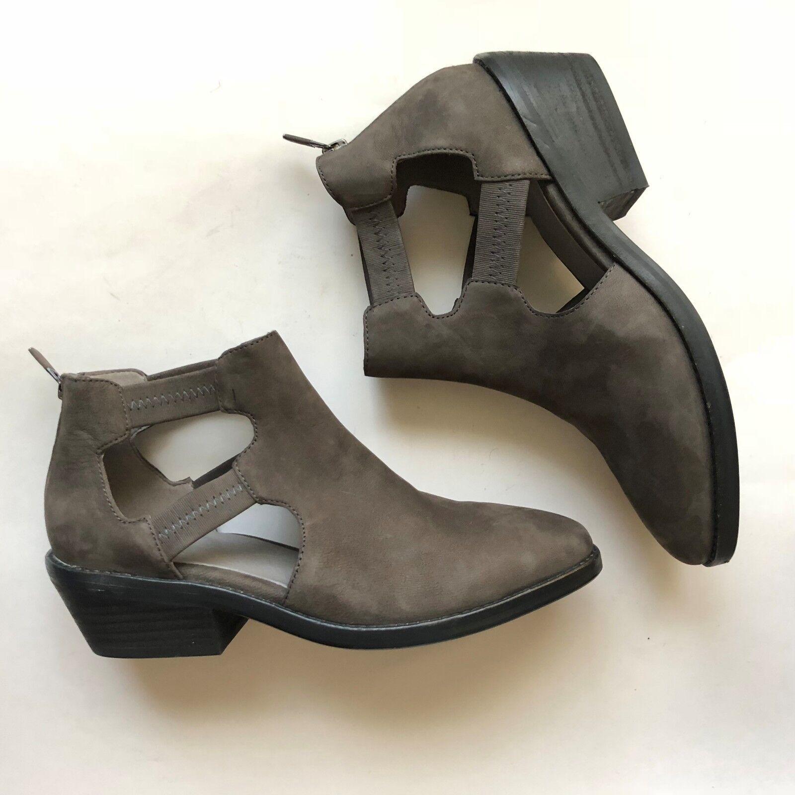 Eileen Fisher Tobillo de de de Cuero para Mujer Vanda recorte Botín gris Casual Comfort Talla 7 95a98a