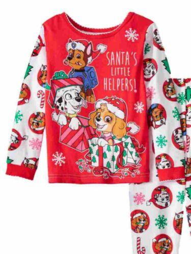 Paw Patrol Toddler Girls Pink Santas Little Helpers Holiday Sleep Set Pajamas