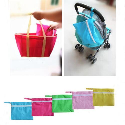 Baby Waterproof Dirty Cloth Diaper Nappy Stroller Storage Organizer Zip Bag C