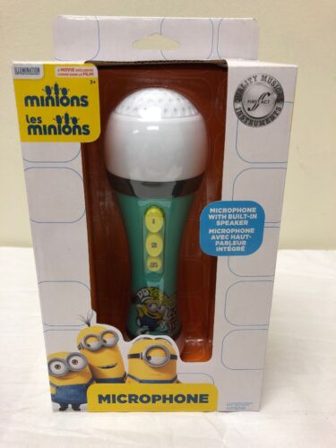 Minions Microphone With Built In Speaker With Sound Effects Brand New