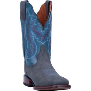 Dan-Post-Jada-DP4636-Women-039-s-Grey-Blue-Leather-Western-Boots