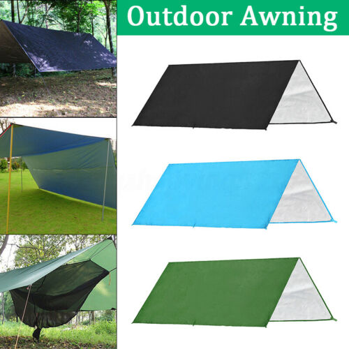 3 x 3m Outdoor Camping Tent Tarp Shelter Sun Shade Rain Cover Canopy Awning  3 2