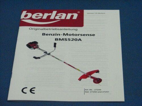 Bedienungsanleitung aus Berlan BMS520A Benzin Motorsense