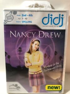 Leap-Frog-Didj-Custom-Gaming-System-Nancy-Drew-Mystery-In-Hollywood-Hills-New