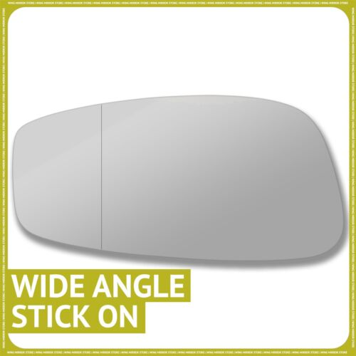 Left hand passenger side for Fiat Stilo 01-07 wing mirror glass Wide Angle