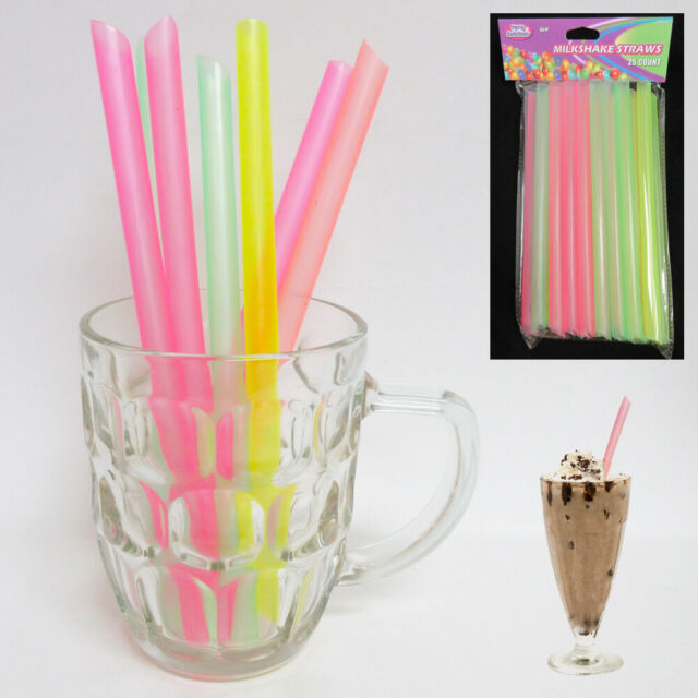 100X Bubble Boba Tea Fat Dringking Straw Party Smoothies Jumbo Thick Drink Straw