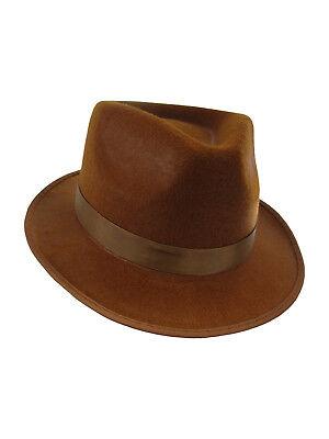 Jones Freddy Felt 4th Doctor Who Fedora Gangster Steampunk Hat Costume