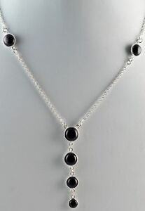 Black-Onyx-925-Sterling-Silver-Handmade-Chain-Necklace-US-BON-001