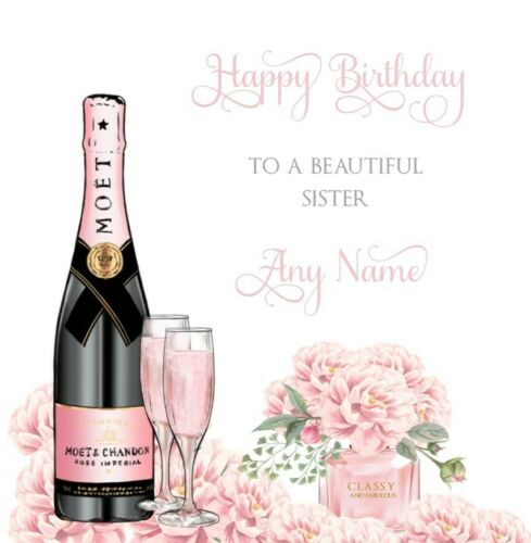 SISTER  DAUGHTER PERSONALISED cute female birthday card 18th 21st 30th 40th any