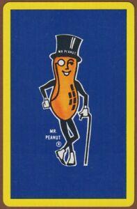 Playing-Cards-1-Single-Card-Old-Vintage-MR-PEANUT-Advertising-Art-PEANUTS-NUTS-1