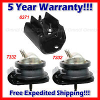 L886 Fits 2001-2004 Nissan Pathfinder 3.5l 4wd Auto, Motor & Trans Mount Set 3pc