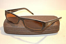 Vintage Dolce & Gabbana D&G 1121 675 Black Rectangular Sunglasses Frames