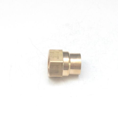 """1//8/"""" Female BSP British Brass Fitting Reducer Pipe Coupling 1//4/"""""""