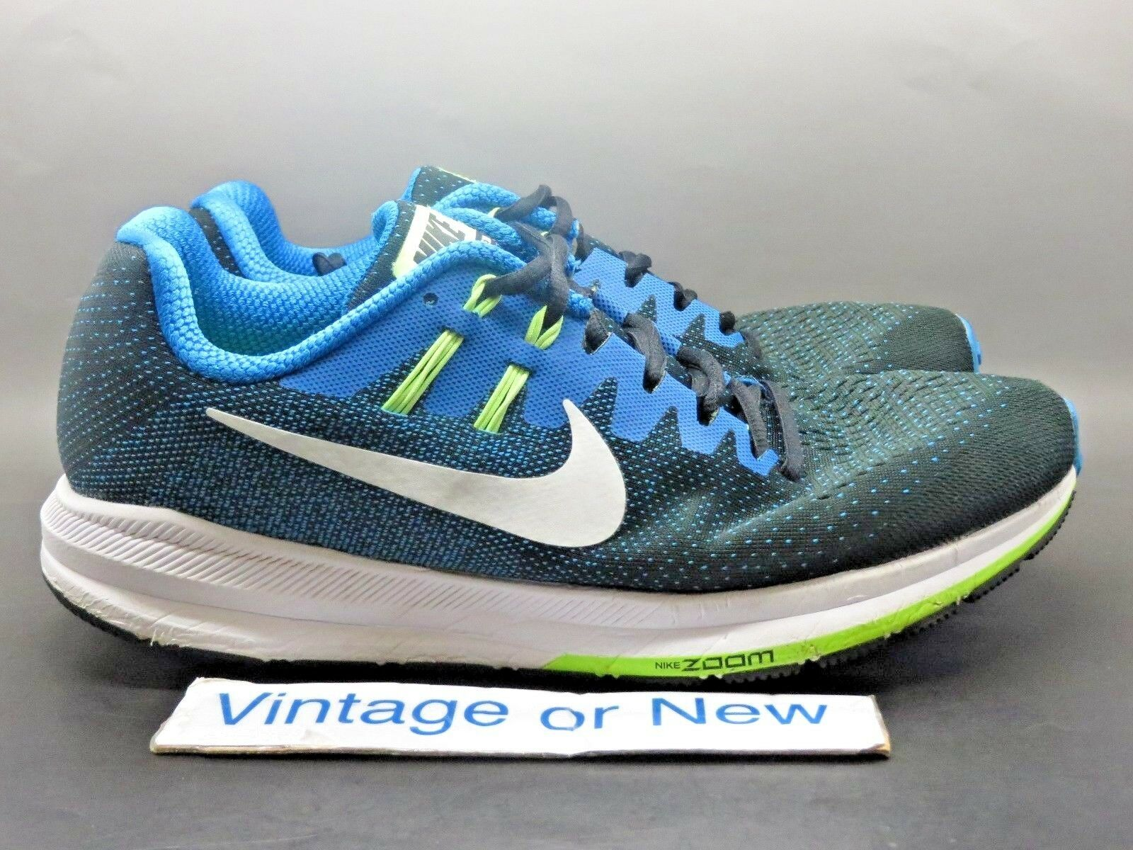 Nike Air Zoom Structure Black Photo Blue Green Running 849574-004 Price reduction The most popular shoes for men and women