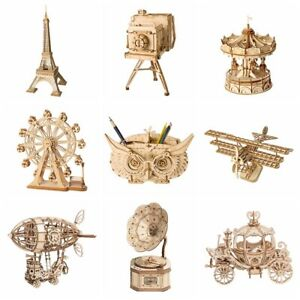 Rolife-Jouet-Decoupe-Au-Laser-En-Bois-3D-Puzzle-DIY-Artisanat-Kits-Cadeau-Filles
